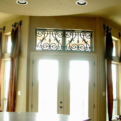 Faux Wrought Iron - Window Treatment for transom window over back ...