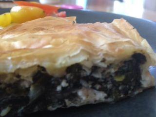 Greek-Style Greens Pie via loveandonions.com