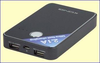 De herlaadbare 7.000 mAh batterij met lange levensduur in de KN-PBANK7000 geeft uw smartphone tot wel 19,5 uur extra gesprekstijd. Het ultra dunne ontwerp van slechts 17,0 mm maakt dit apparaat tot de meest ideale draagbare laadoplossing. http://www.vego.nl/accu/kn-pbank7000/kn-pbank7000.htm