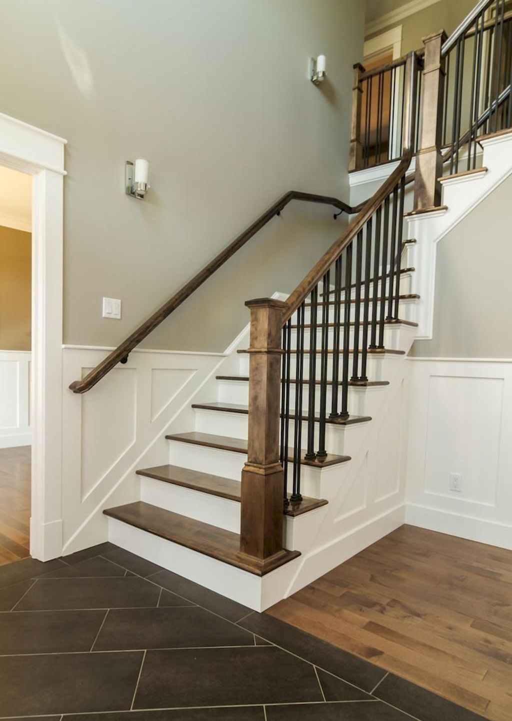 Best 76 Modern Farmhouse Staircase Decor Ideas Farmhouse Staircase 400 x 300