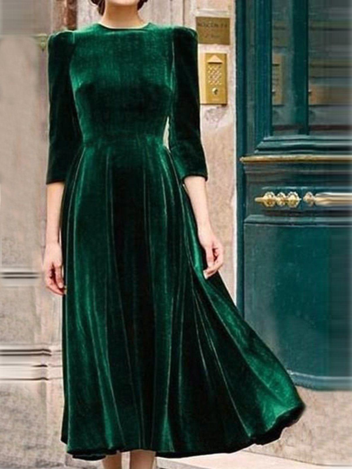 Army Green Vintage Velvet Dresses Vintage Velvet Dress Green Velvet Dress Maxi Dress Green [ 1600 x 1200 Pixel ]