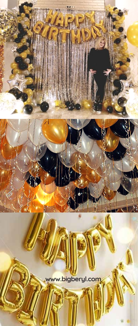 happy birthday balloons banner in 12 colors in 2019