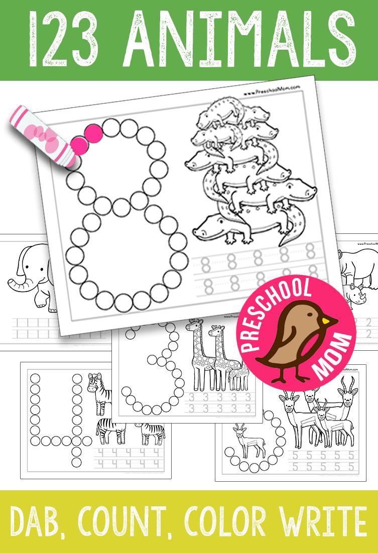 Free 123 Animals Set From Preschoolmom Com Math Activities Preschool Numbers Preschool Preschool Activities [ 1102 x 753 Pixel ]