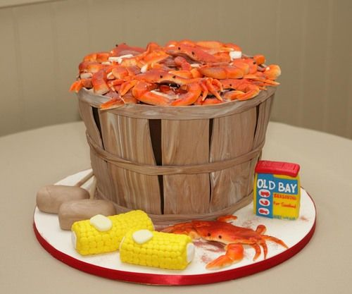 Super Crab Pot Birthday Cake Cakes By Leslie Birthday Cake Funny Birthday Cards Online Necthendildamsfinfo