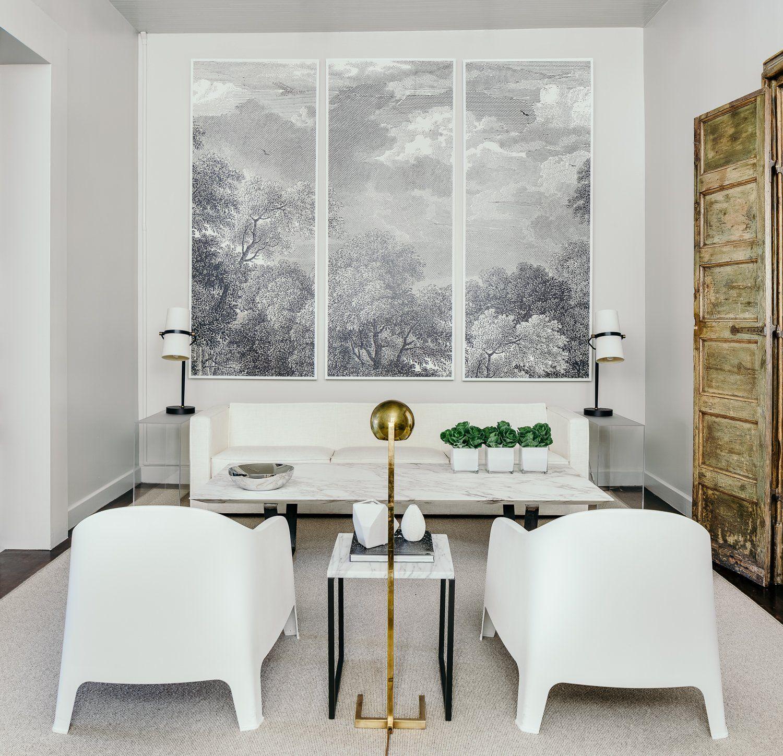 ECHE Martinez Luxury, elegant and beautiful white modern living room ...
