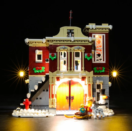 NOT Included The Model Led Light kit Compatible with Lego 10263 Building Blocks Model Creator Expert Winter Village Fire Station LIGHTAILING Light Set for