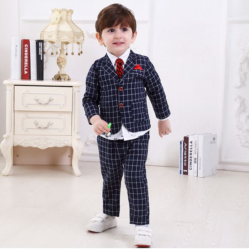 22a36ba06b suit blazers for kids blazers children suit wedding dress kids boys formal baby  boy prom blue plaid for boys formal wear set #PromDresses