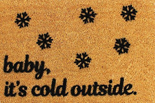 Cats Christmas Doormat   CKB Ltd Baby Itu0027S Cold Outside Xmas Novelty Doormat  Unique Christmas Doormats