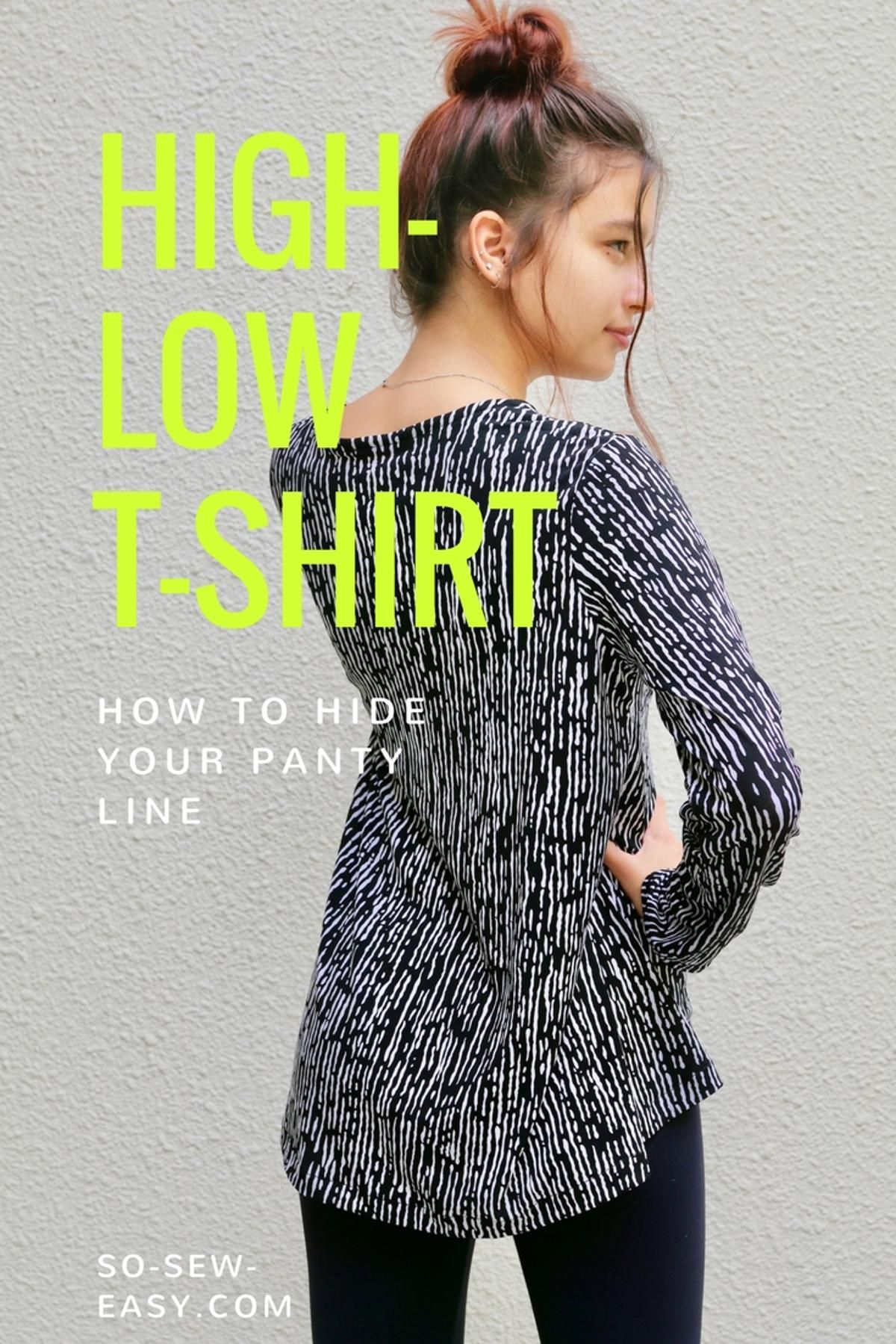 High-Low T-Shirt free pattern PDF download from Craftsy! | FREE Easy ...