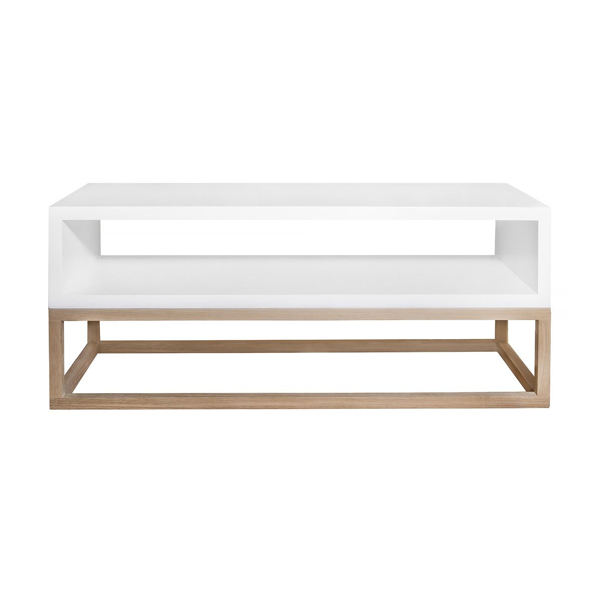 Small Cube Coffee Table.Coffee Table White Open Cube On Solid Raw Oak Cubic Frame 50ct Oak