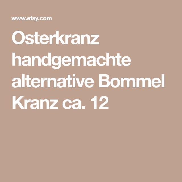Osterkranz Handgemachte Alternative Bommel Kranz Ca 12 Birgit