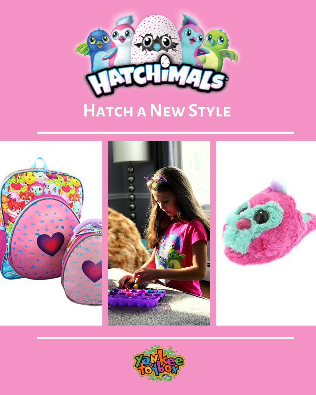 73ebbcb89ad9 Hatch your own style. Find all your Hatchimals merchandise at Yankee ...