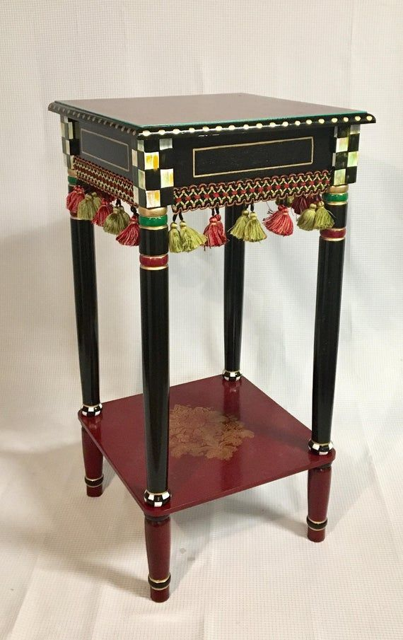 Whimsical Painted Table Painted End Table Custom Painted End Etsy Painted End Tables Whimsical Furniture Painted Table