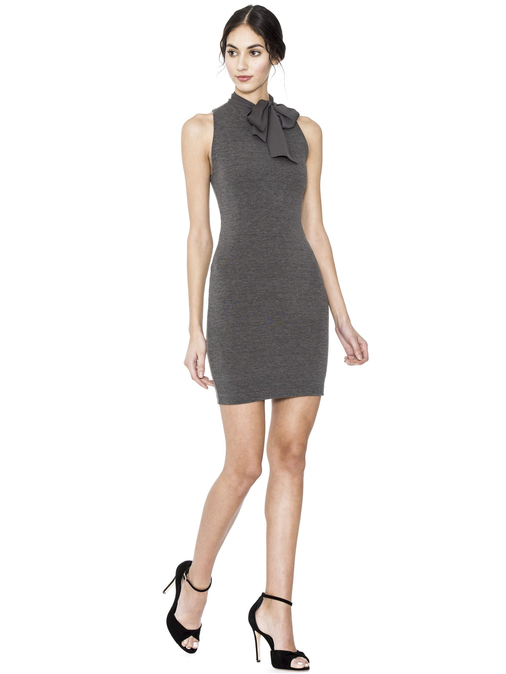 Alice and olivia mary fitted dress with neck tie charcoal alice and olivia mary fitted dress with neck tie charcoal aliceandolivia cloth ombrellifo Images