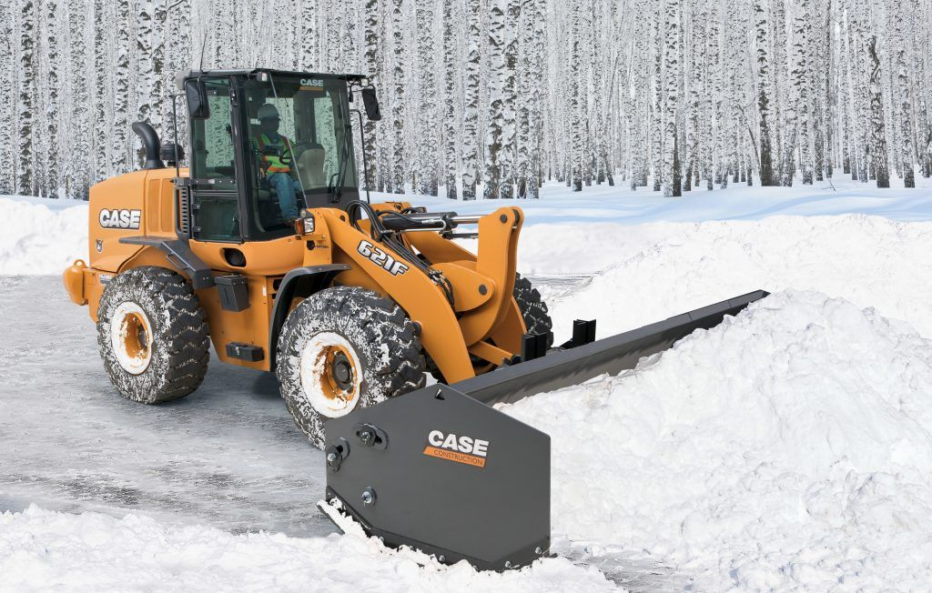 New Case Ce Snow Pushers Fit Older Machines Too Construction Equipment Heavy And Light Landscape Rock