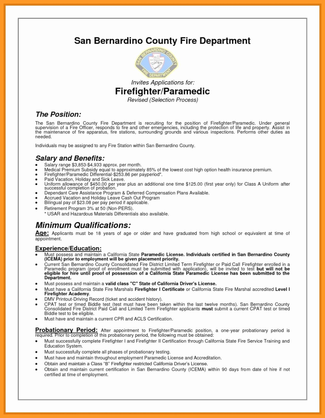 23 Firefighter Job Description Resume in 2020 (With images