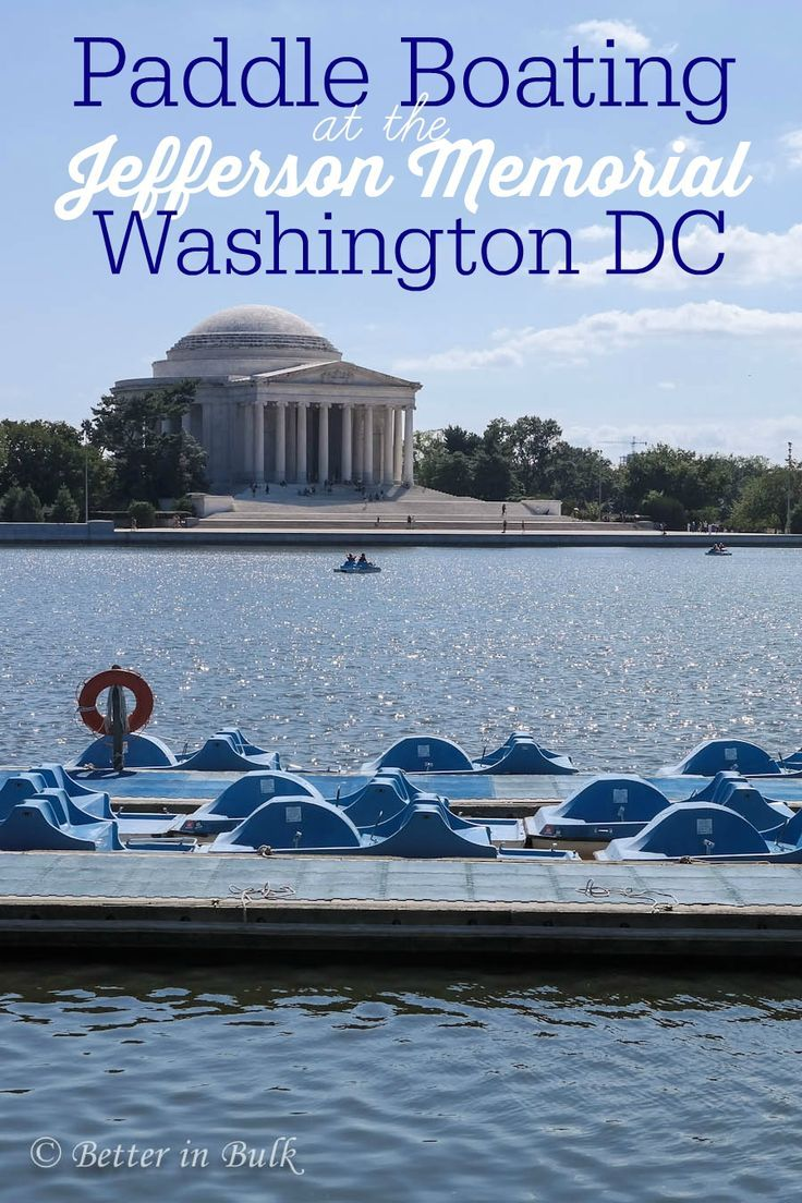 tidal basin paddle boats at the jefferson memorial in washington