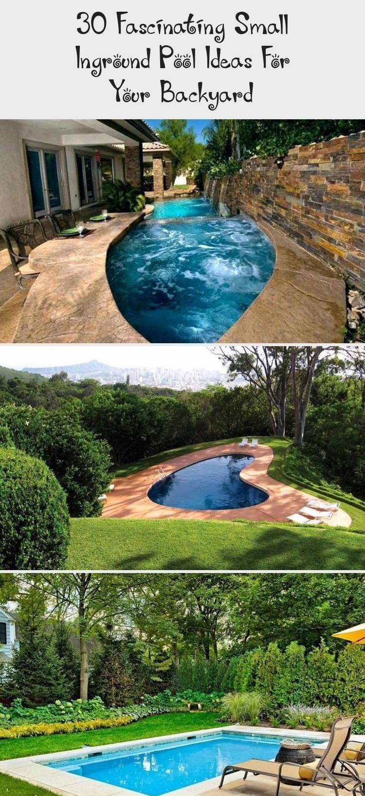 30 Faszinierende Kleine Inground Pool Ideen Fur Ihren Garten