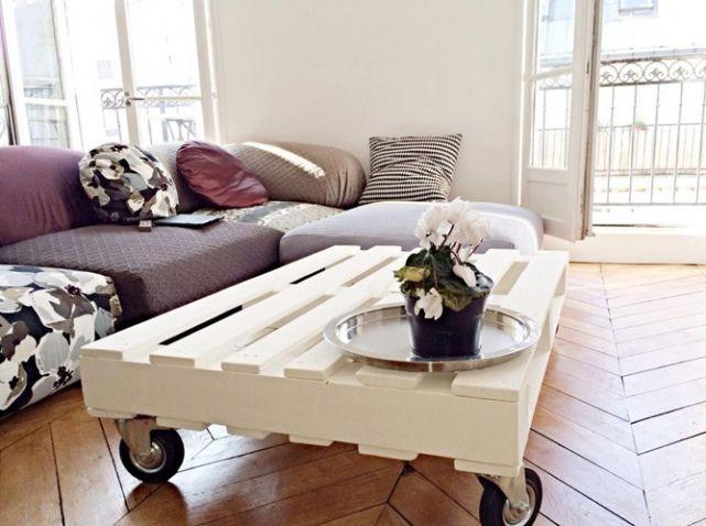 Populaire Etsy palette table basse salon | Déco Mobilier avec des palettes  RF85