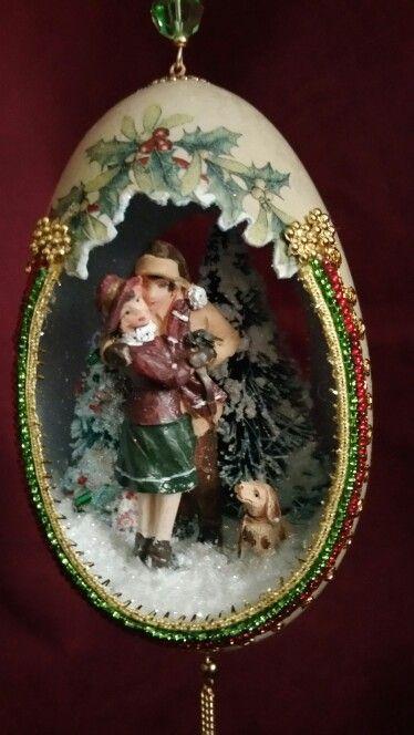 Eggshell Christmas Ornament Www Spiritsinshells Com Christmas