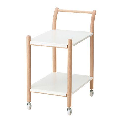 IKEA PS 2017 Sidobord med hjul IKEA Sidobordet går att använda till mycket – som arbetsplats, soffbord, serveringsvagn eller sängbord.