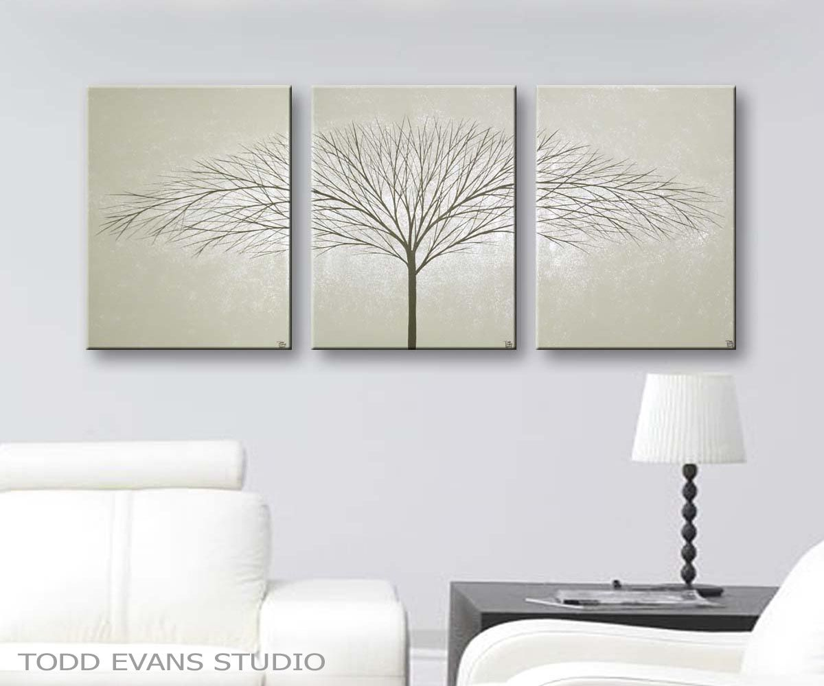 Gray Canvas Art Wall Art Home Decor living room decorating ideas ...