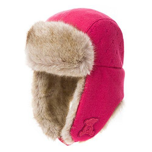 37ff29da51616 Surell Rabbit Fur Ushanka Trapper Hat - Fluffy Warm Russian Fur Winter Cap