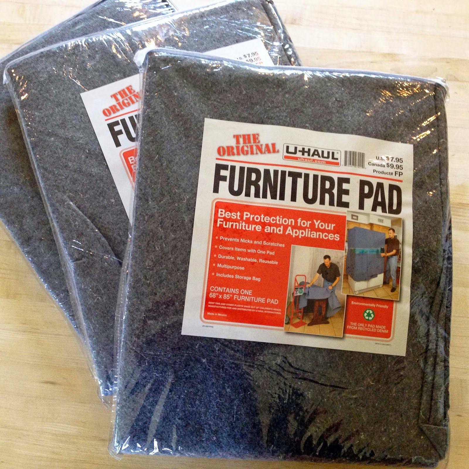 U Haul Furniture Pads in Packaging work great for guinea pig cages