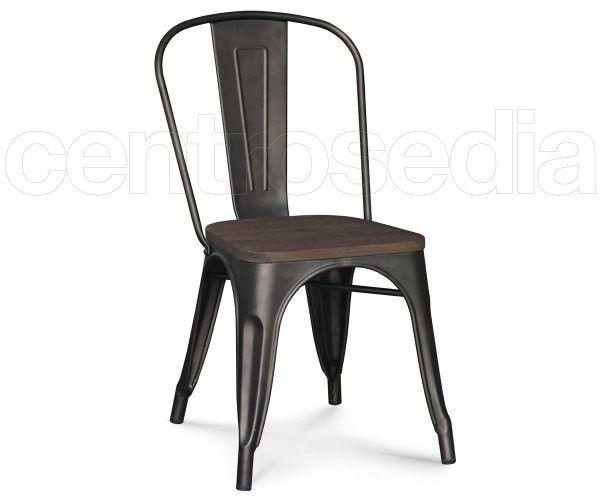 Virginia sedia metallo old style seduta legno tavoli e sedie