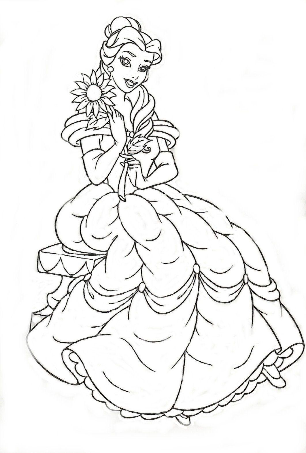 Dibujos para Colorear de Princesas | Mi Maestra de Primaria | Para ...