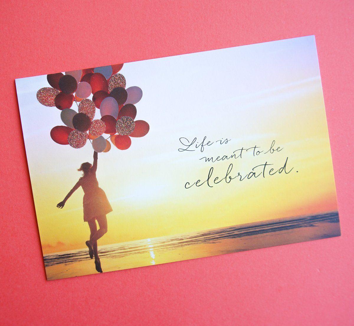 Fly Away Sunset Balloons Birthday Card Snapshot Birthday Balloons Birthday Cards Balloons