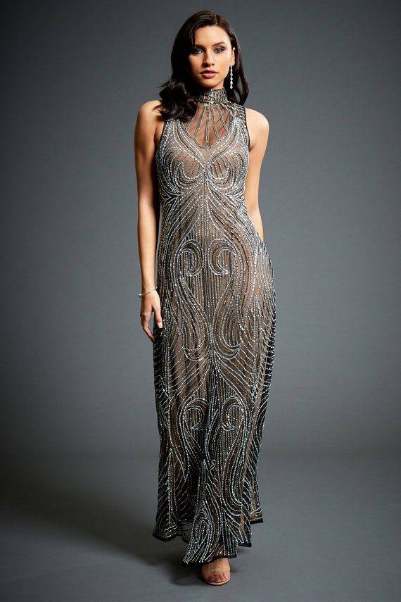 Olivia Embellished 1920s Great Gatsby Inspired, Mocha Wedding ...