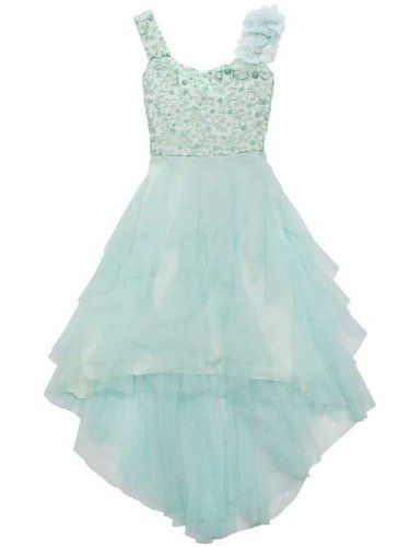 tween minty christmas holiday gown 7 to 16 years needs a cardigan but would be perfect for bettes wedding might be too blue though hmmm