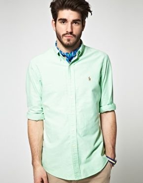 Polo Ralph Lauren Slim Fit Plain Oxford Shirt