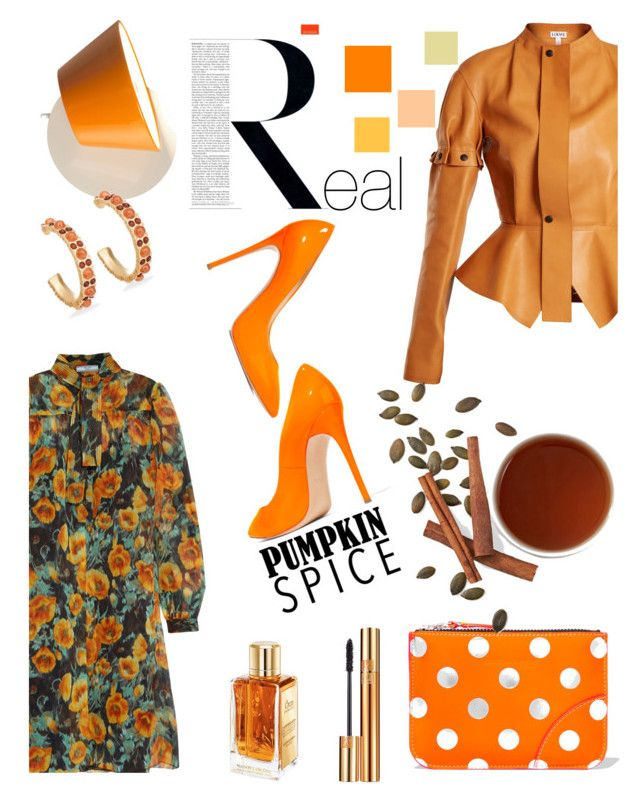 """""""Real Spicy"""" by felicitysparks ❤ liked on Polyvore featuring Prada, Loewe, Casadei, Comme des Garçons, Marset, Chico's, Yves Saint Laurent, Ultimate and Lancôme"""