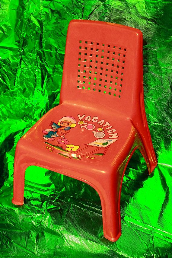 Vintage 80s Children Chair Furniture Girl Boy Child Travel Family Kawaii Fun Mother Father Family Playtime Gift Birthday Kids Chairs Plastic Chair Kids Activity Table