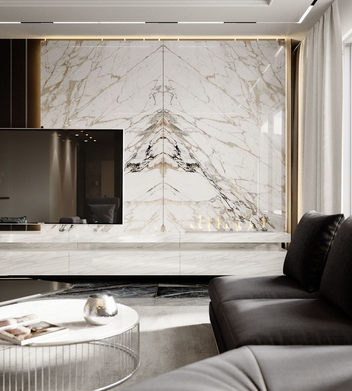 Apartment Lux 018 On Behance Living Room Designs Luxury Living Room Living Room Tv