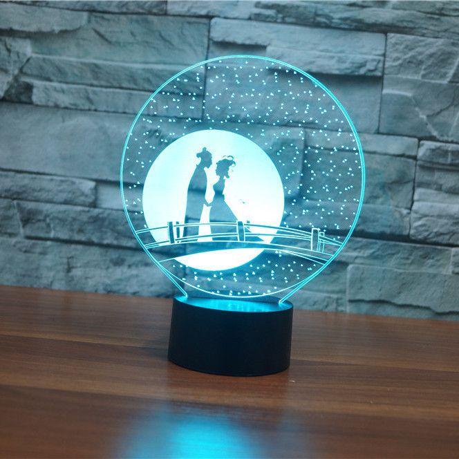 Couple Romance 3d Illusion Lamp 3d Illusion Lamp 3d Illusions 3d Led Lamp