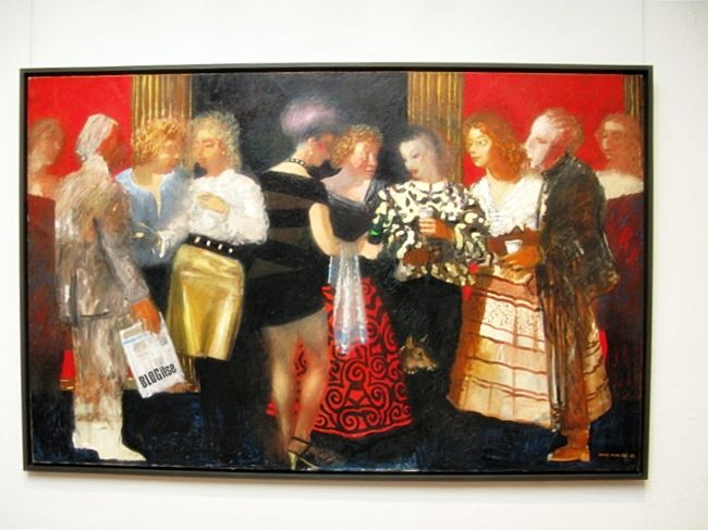 Peter Dahl 'In Fine Company' by BLOGitse - 'What do you think of that gold skirt?'