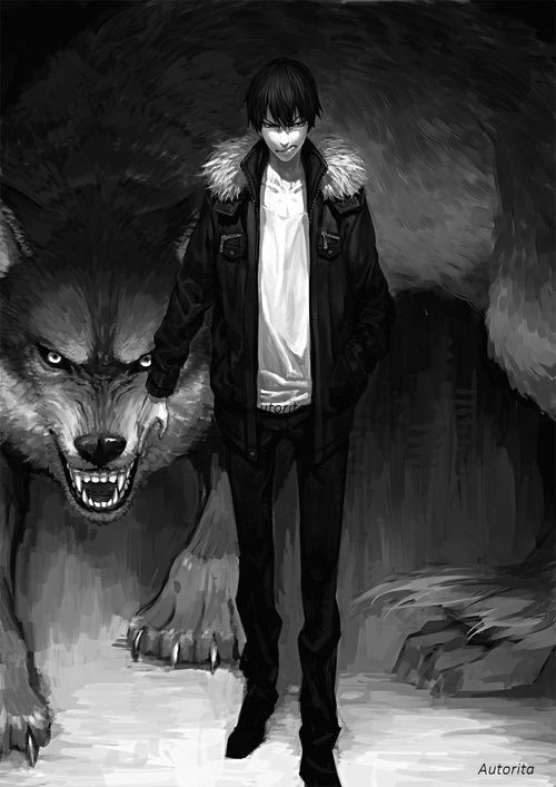 2 Tumblr Werewolf Art Anime Wolf Dark Fantasy Art