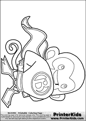 Bloons TD - SUPER MONKEY #1 - Coloring Page | Super heroes