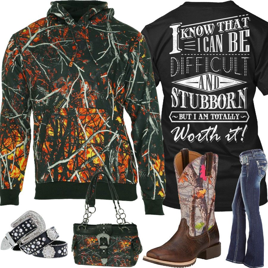 Ium totally worth it wildfire camo outfit real country ladies