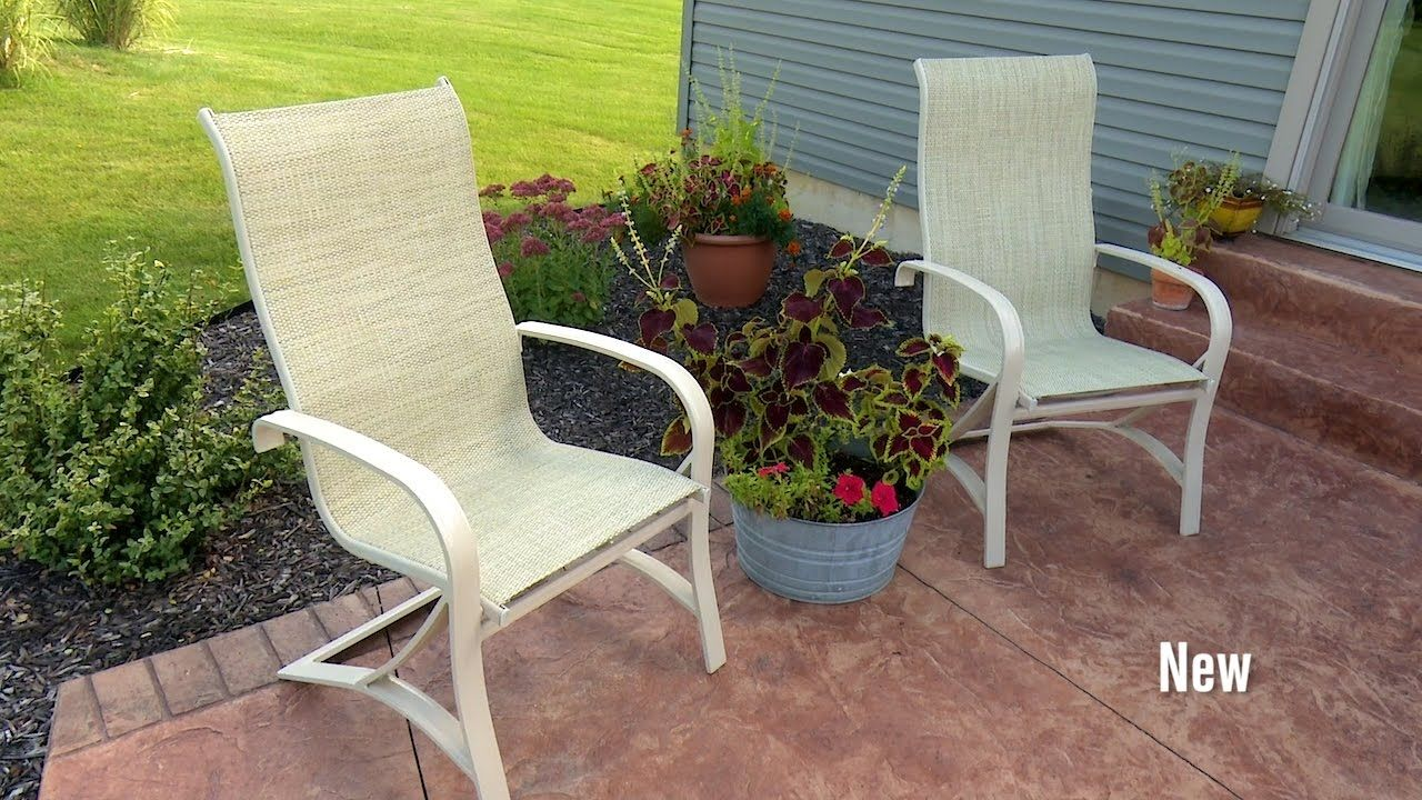 How to replace fabric on a patio sling chair youtube diy