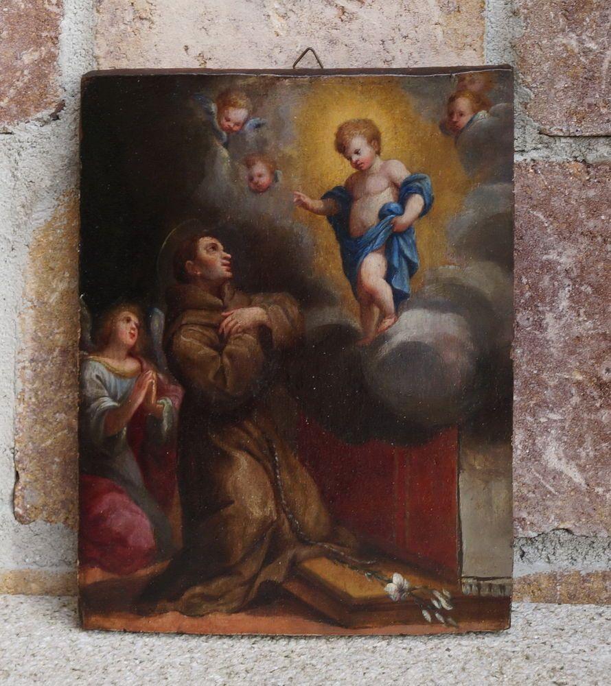 Old Master - Saint Anthony of Padua - Italy 18th century, ca. 1750  (# 4380)