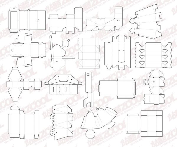 18 Models Of Various Packaging Box Template Vector Graphic Box Template Gift Box Template Gift Box Design