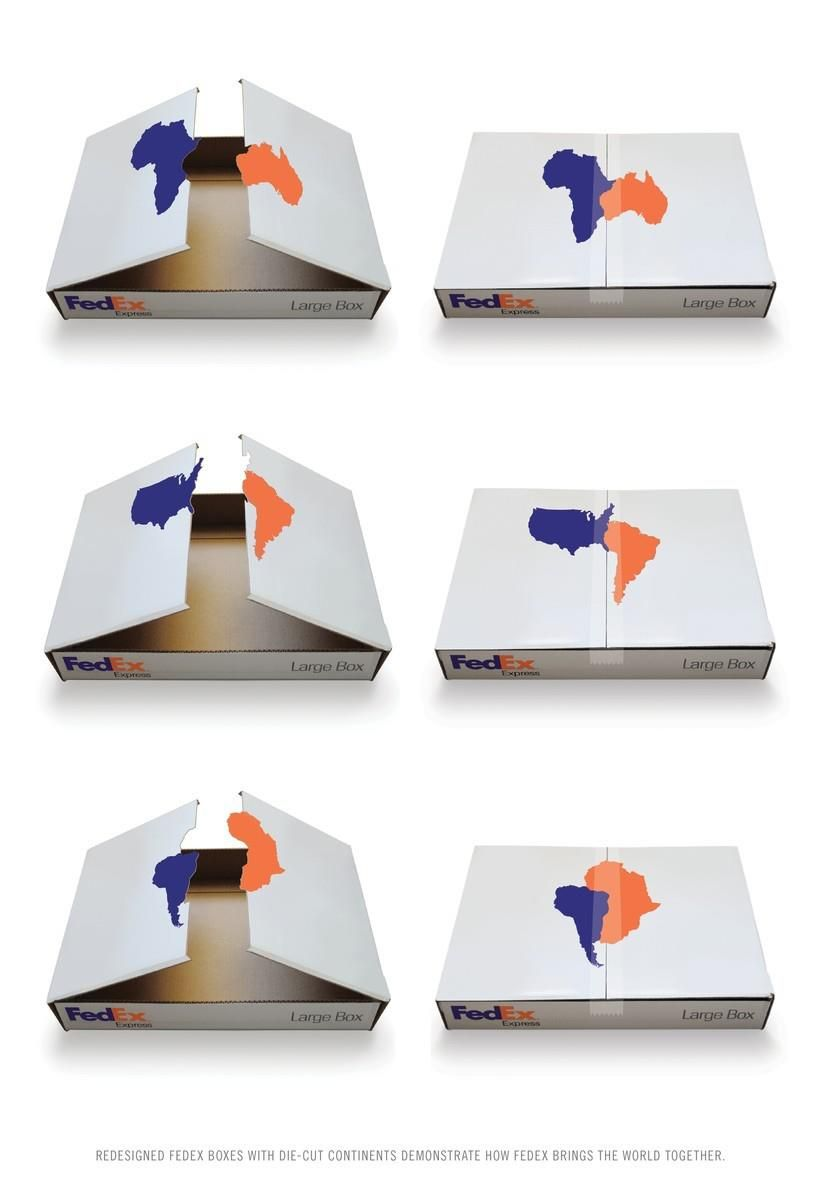 Great take on the redesign of shipping boxes to show how fedex great take on the redesign of shipping boxes to show how fedex brings the world pronofoot35fo Image collections