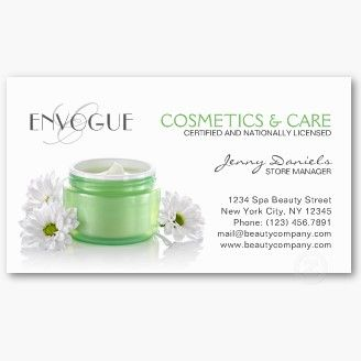 Skin care aesthetician cosmetology business card esthetician this eye catching skin care cosmetology and aesthetician esthetician business card template featuring a green brand free jar with facial cream friedricerecipe Images