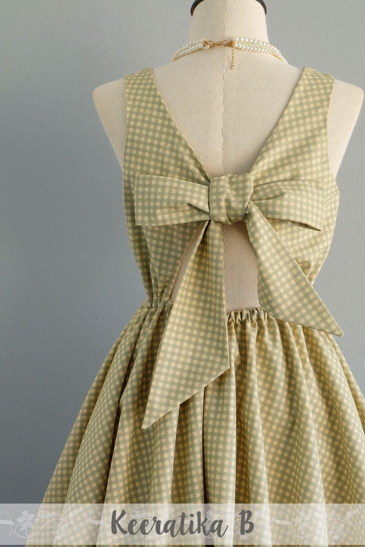 Checkered Bridesmaid Dresses