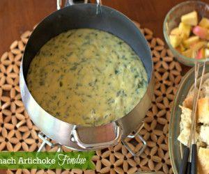 The Melting Pot Copycat Recipe: Spinach Artichoke Cheese Fondue