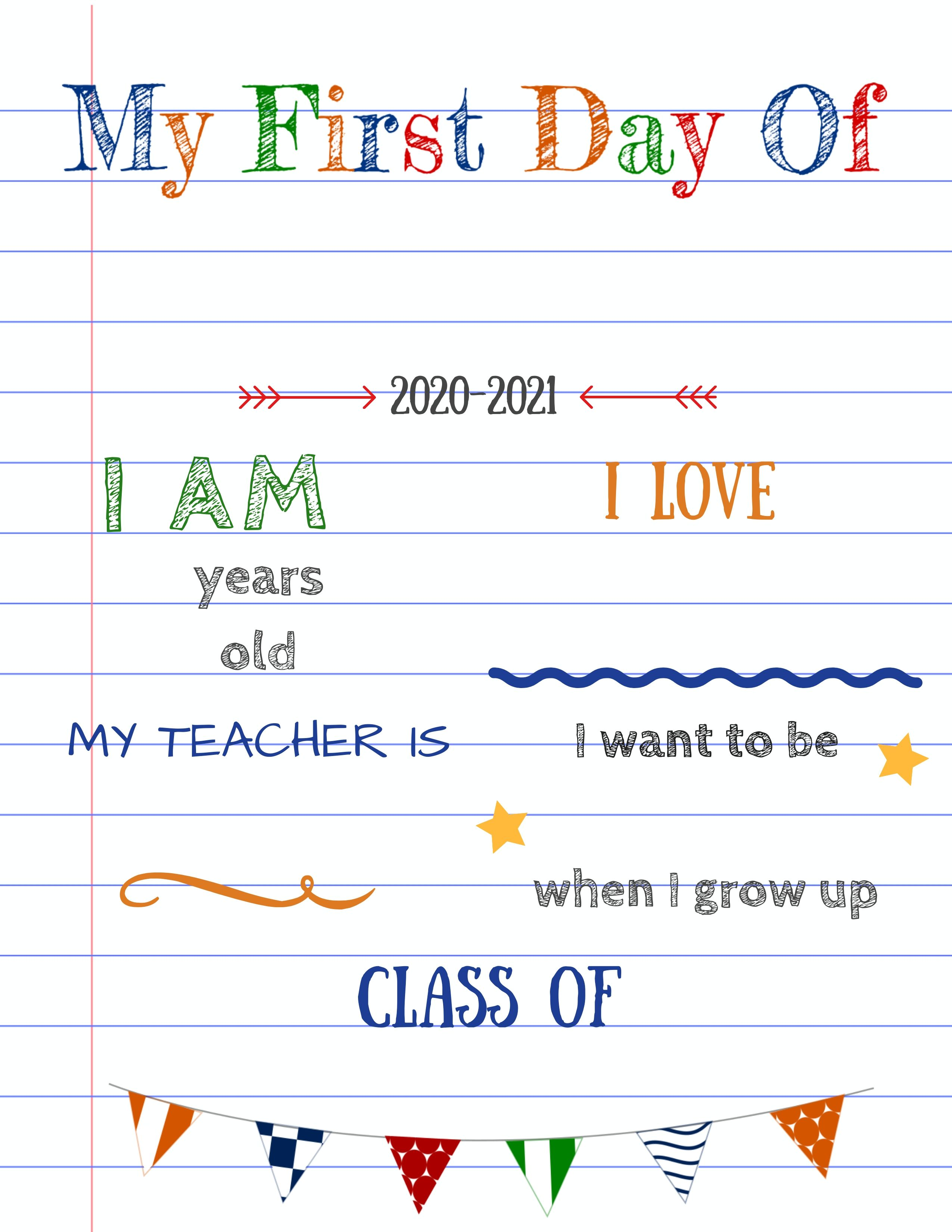 Https Www Planesandballoons Com Wp Content Uploads 2020 06 Editable First Day Of School Signs White School Signs First Day School Sign Kindergarten First Day [ 3300 x 2550 Pixel ]